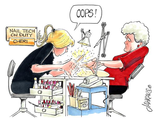 nail technician cartoon 2