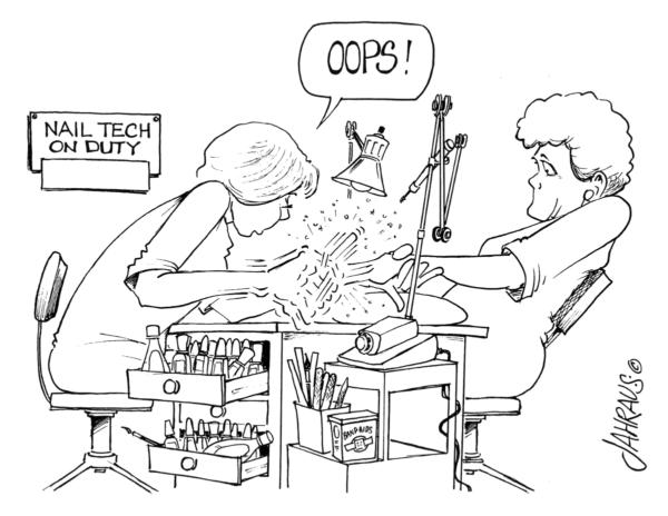 nail technician cartoon 3