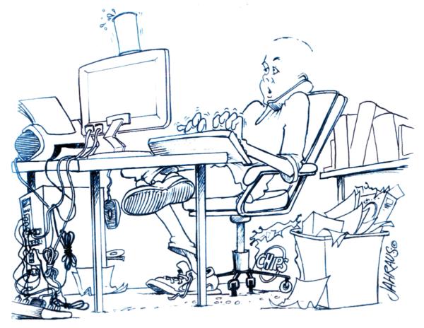 office worker cartoon 3