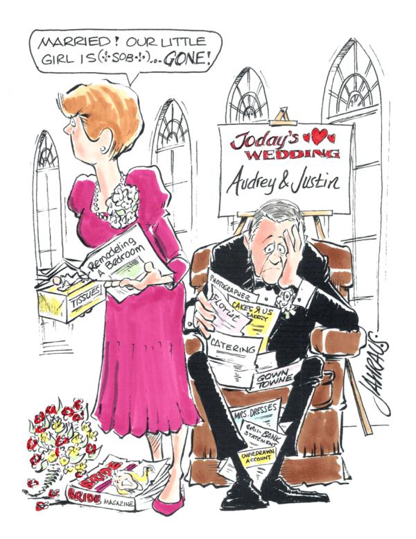 parents of the bride cartoon 1