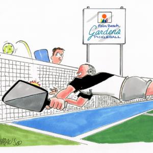 pickleball dive cartoon 1
