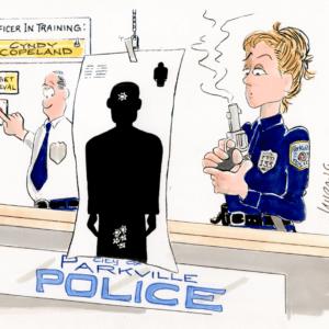 policewoman cartoon 1