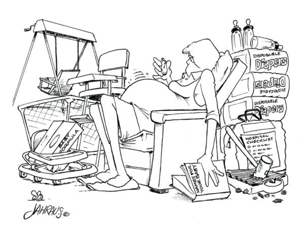 pregnant mom cartoon 3