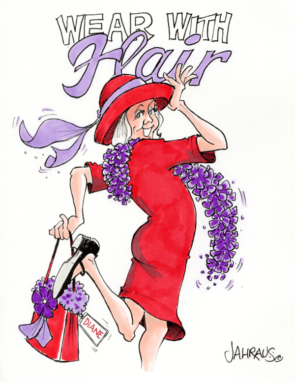 red hat lady cartoon 1