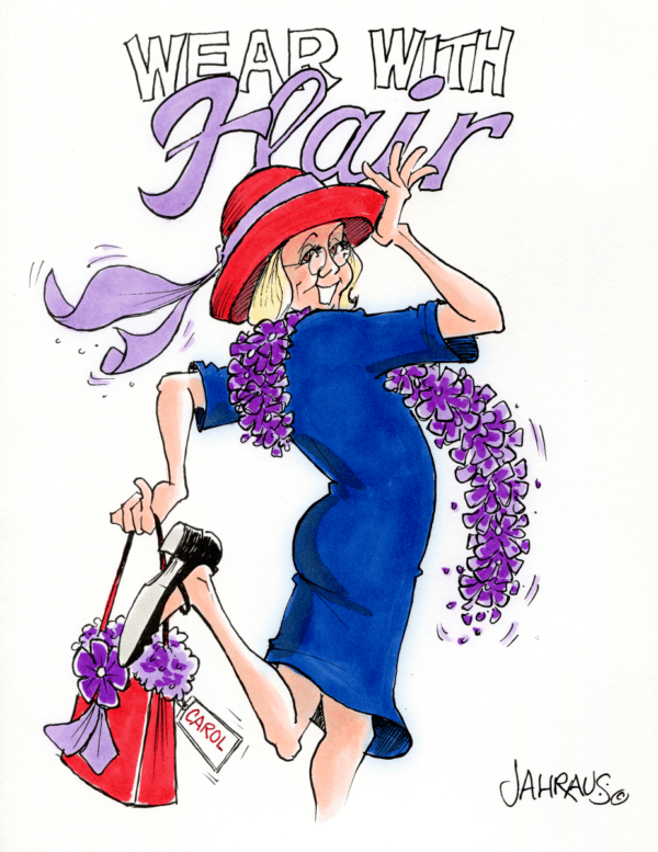 red hat lady cartoon 2