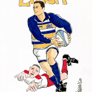 rugby player cartoon 1