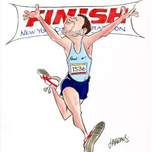 runner finish line cartoon 1