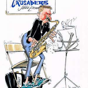 saxophonist cartoon 1