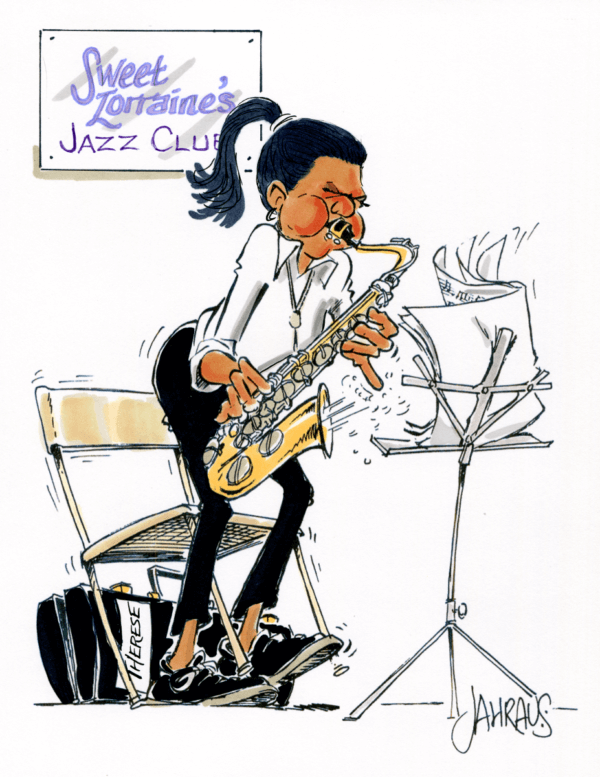 saxophonist cartoon 2