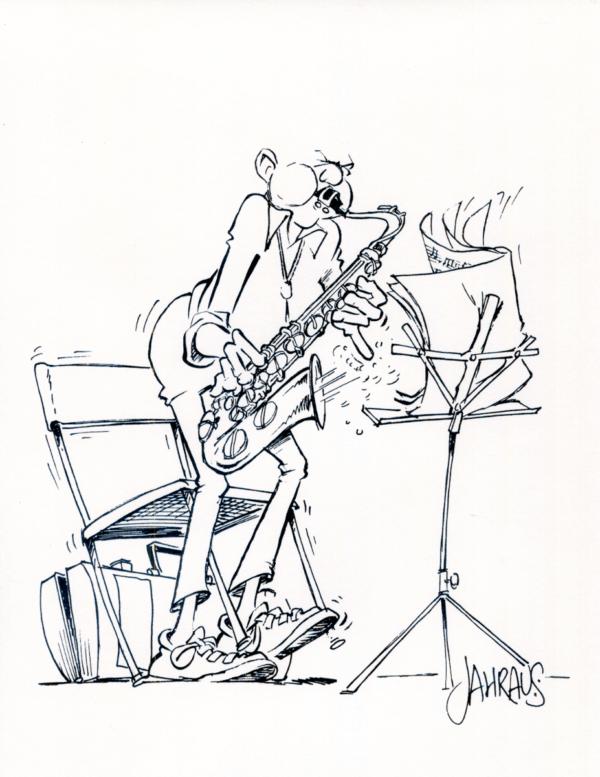 saxophonist cartoon 3