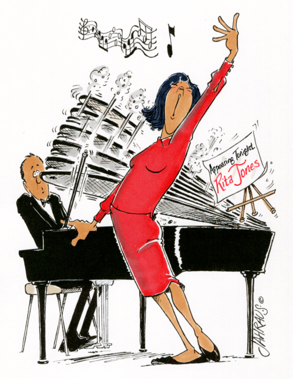singer cartoon 2