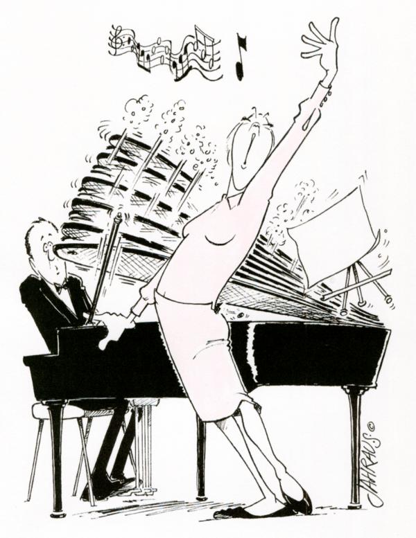 singer cartoon 3