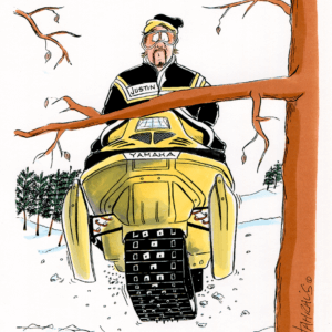 Snowmobiler Cartoons