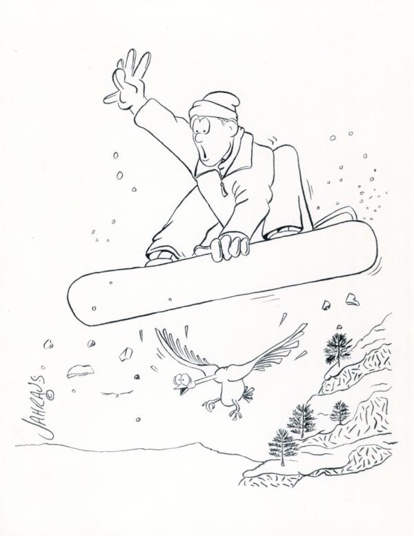 snowboard cartoon 3