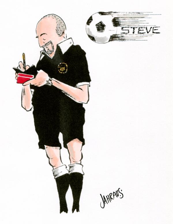 soccer referee cartoon 2