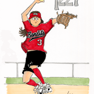 softball pitcher cartoon 1