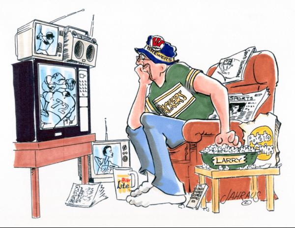 sports fan cartoon 1