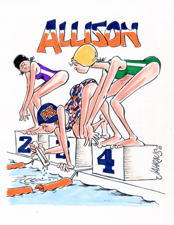swimming cartoon 1