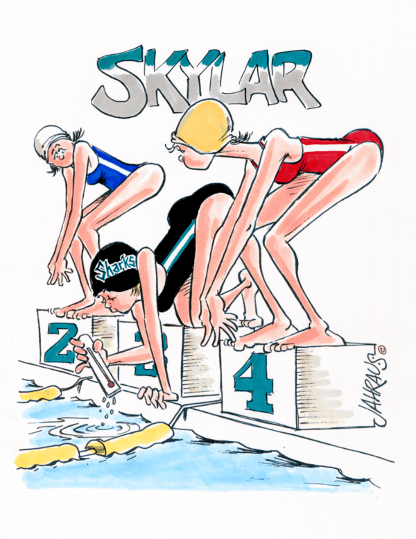 swimming cartoon 2