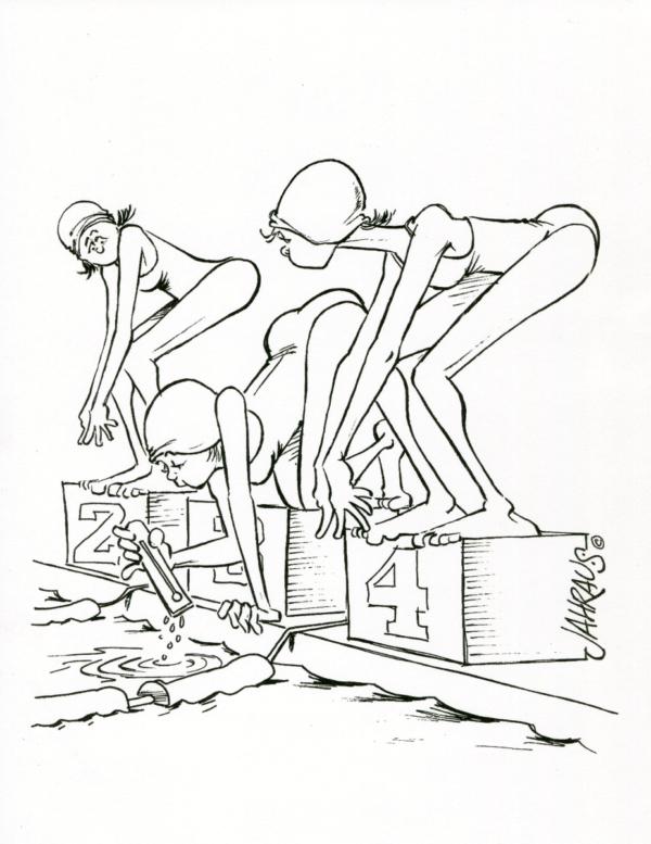 swimming cartoon 3