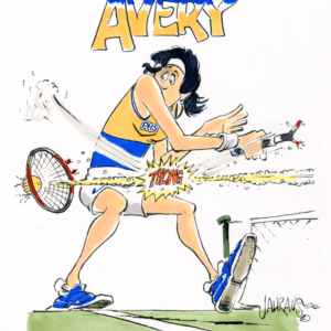 tennis broken racquet cartoon 1