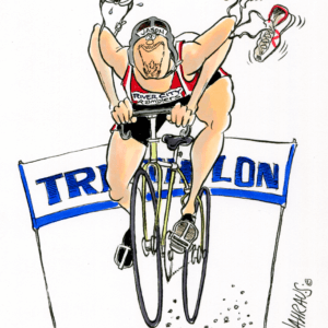 triathlete cartoon 1