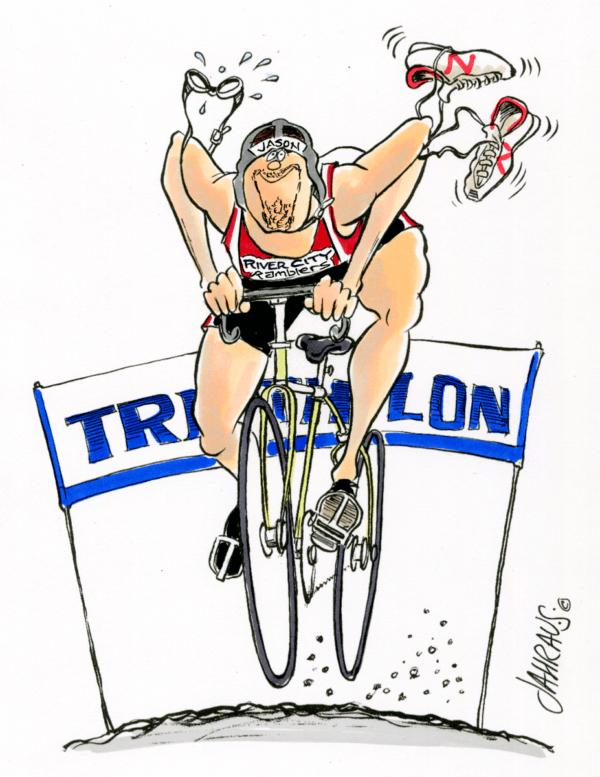 triathlete cartoon 1