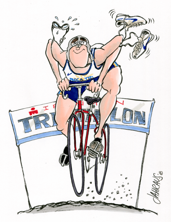 triathlete cartoon 2