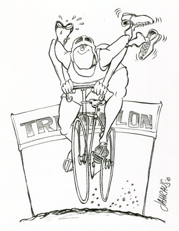 triathlete cartoon 3