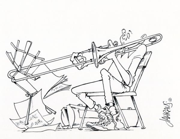 trombonist cartoon 3