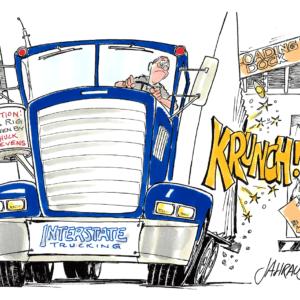 truck driver cartoon 1