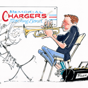 trumpeter cartoon 1
