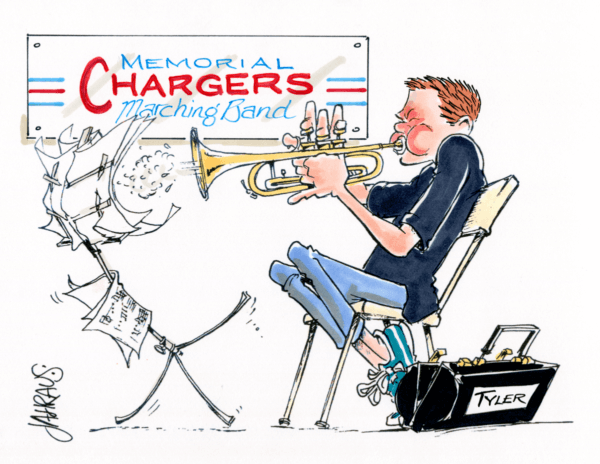 trumpeter cartoon 1