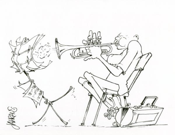 trumpeter cartoon 3