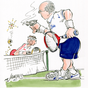 upset tennis player cartoon 1