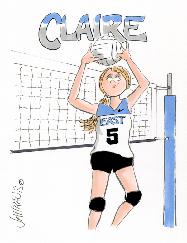 volleyball setter cartoon 1