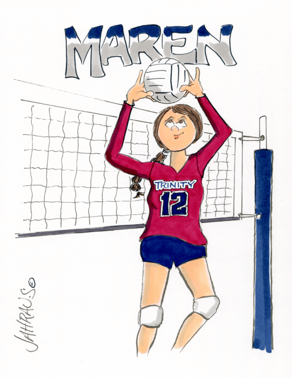 volleyball setter cartoon 2