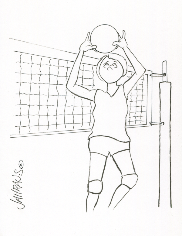 volleyball setter cartoon 3