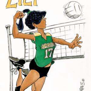 volleyball spike cartoon 1