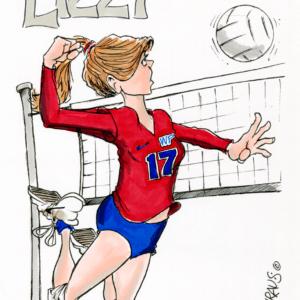 Volleyball Spiker Cartoon Fun Gift For Volleyball Spiker