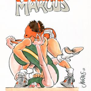 wrestler cartoon 1
