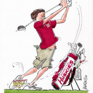 youth golfer cartoon 1